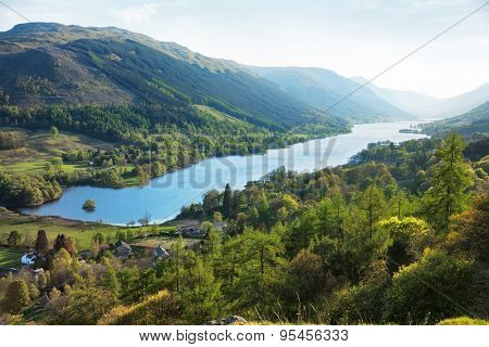 Loch Voil in spring evening.