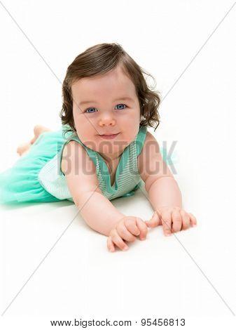 Portrait of beautiful blue-eyed girl