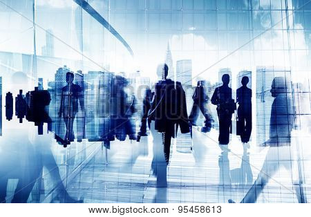 Business People Corporate Commuter Rush Hour City Concept