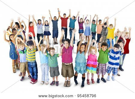 Diversity Childhood Children Happiness Innocence Friendship Concept