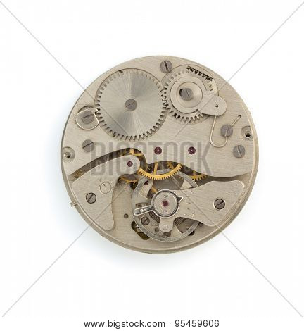 watch mechanism isolated on white background