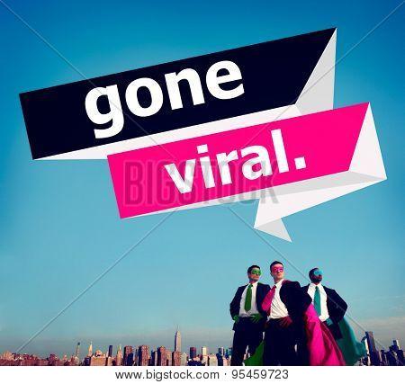 Gone Viral Popular Social Media Networking Concept