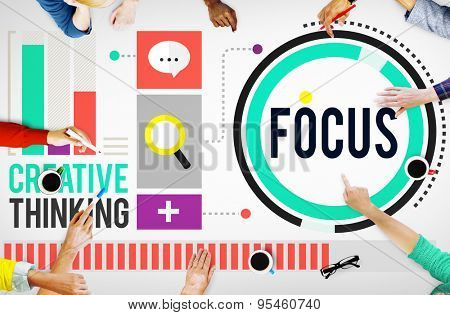 Focus Concentrate Definition Target Point Concept