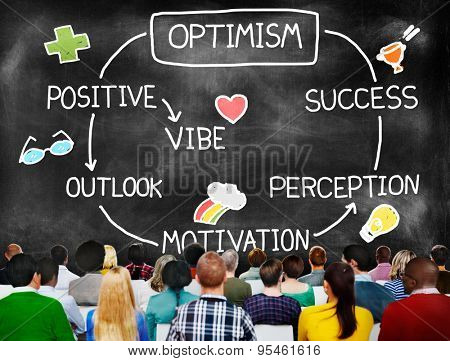 Optimism Positive Outlook Vibe Perception Vision Concept