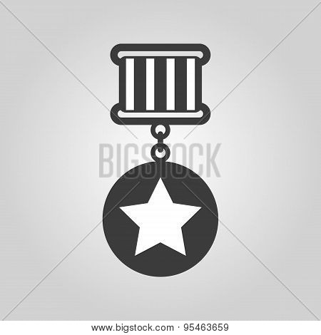 The Medal Icon. Reward Symbol. Flat