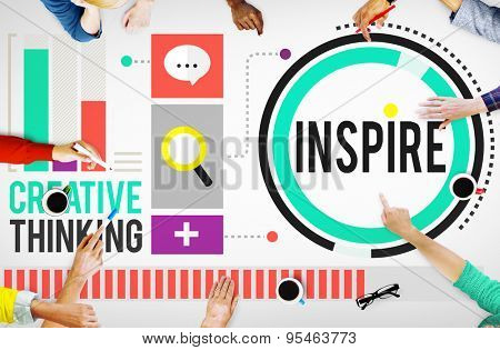 Inspire Inspiration Imagination Motivation Optimistic Concept