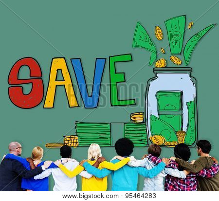 Save Saving Investment Finance Money Concept