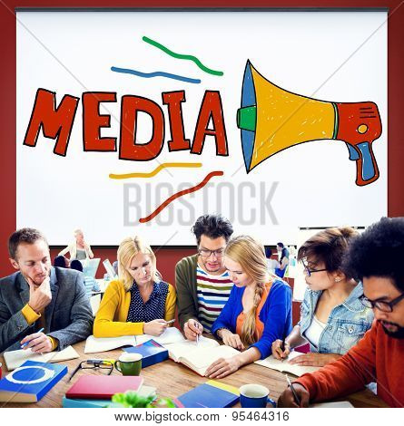 Media Entertainment Multimedia Social Media Concept