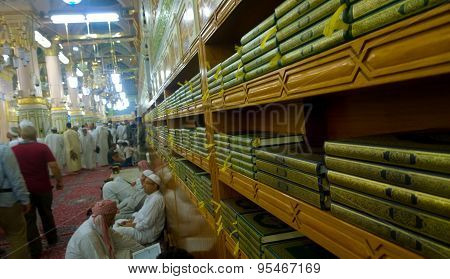 Racks for copies of the Koran