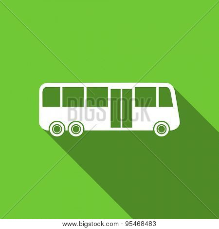 bus flat icon public transport sign original modern design flat icon for web and mobile app with long shadow