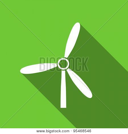 windmill flat icon renewable energy sign original modern design flat icon for web and mobile app with long shadow
