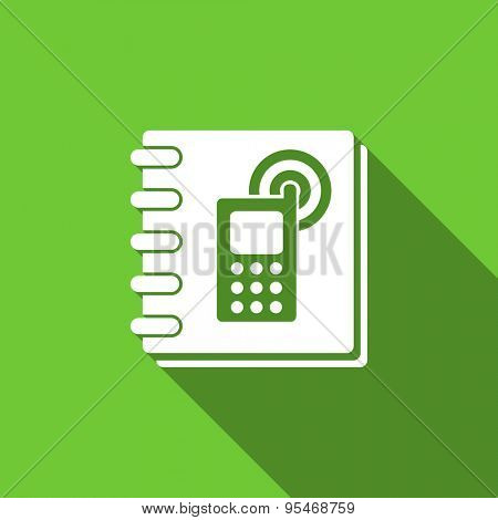 phonebook flat icon  original modern design flat icon for web and mobile app with long shadow
