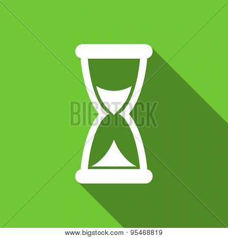 time flat icon hourglass sign original modern design flat icon for web and mobile app with long shadow