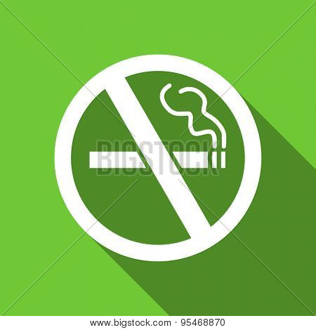 no smoking flat icon  original modern design flat icon for web and mobile app with long shadow