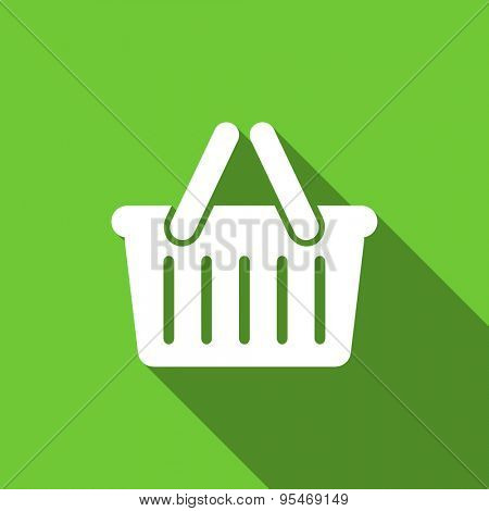 cart flat icon shopping cart symbol original modern design flat icon for web and mobile app with long shadow
