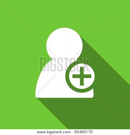 add contact flat icon  original modern design flat icon for web and mobile app with long shadow