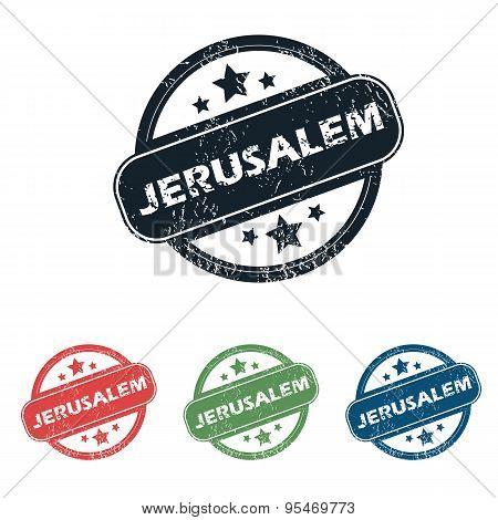 Round Jerusalem city stamp set
