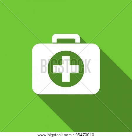 first aid flat icon hospital flat icon  original modern design flat icon for web and mobile app with long shadow