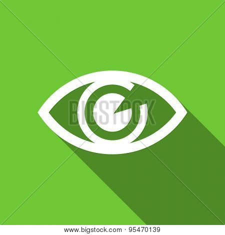 eye flat icon view sign original modern design flat icon for web and mobile app with long shadow