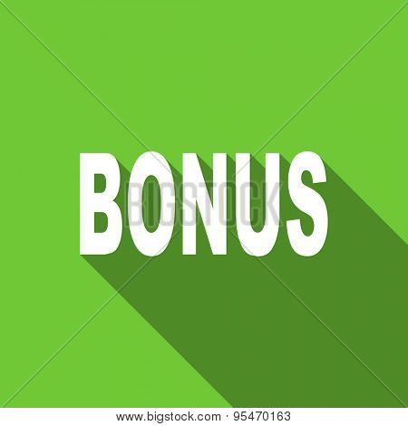 bonus flat icon  original modern design flat icon for web and mobile app with long shadow