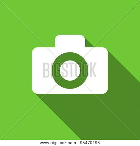 camera flat icon  original modern design flat icon for web and mobile app with long shadow