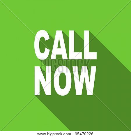 call now flat icon  original modern design flat icon for web and mobile app with long shadow