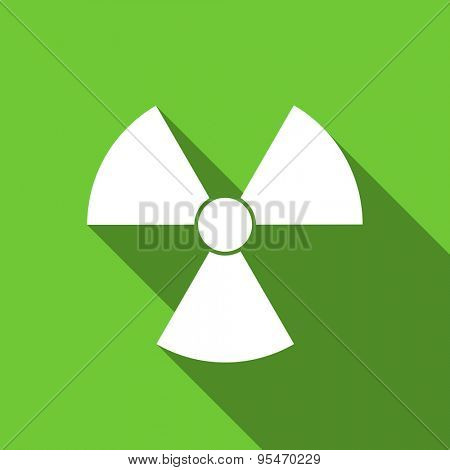 radiation flat icon atom sign original modern design flat icon for web and mobile app with long shadow