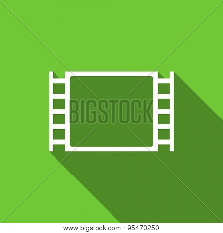 movie flat icon  original modern design flat icon for web and mobile app with long shadow