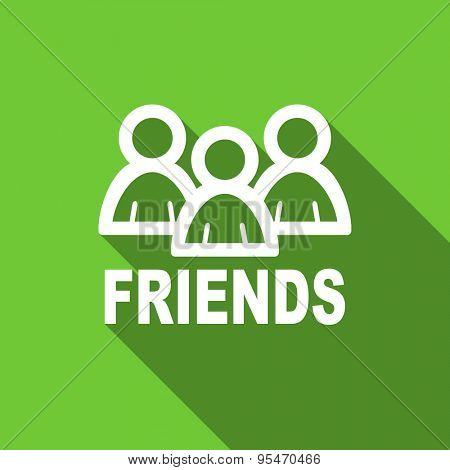 friends flat icon  original modern design flat icon for web and mobile app with long shadow
