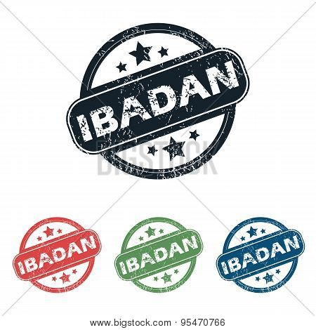 Round Ibadan city stamp set