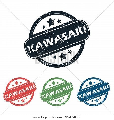Round Kawasaki city stamp set
