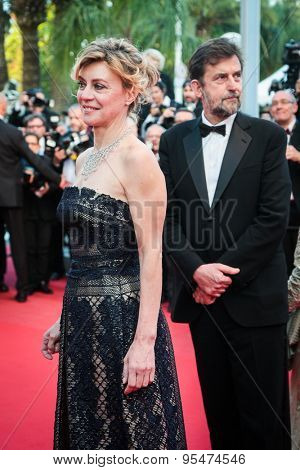 Cannes, France - May 16, 2015: Margherita Buy leave the 'Mia Madre' ('My Mother') Premiere during the 68th annual Cannes Film Festival on May 16, 2015 in Cannes, France