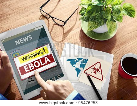 Ebola Warning Disease Outbreak Infection Problem Sickness Concept