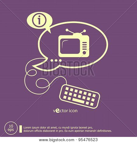 Televise And Keyboard Design Elements