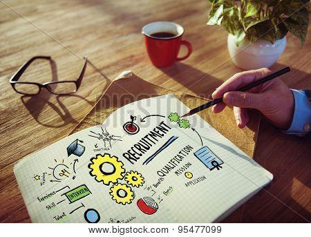 Businessman Planning Recruitment Qualification Working Concept