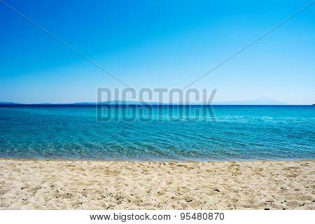 Sky, sea and sand - seascape background