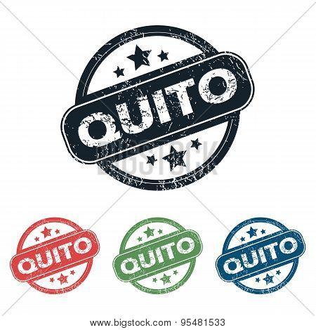 Round Quito city stamp set