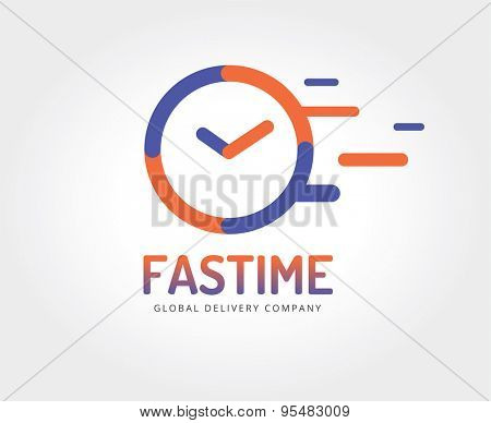 Abstract watch logo template for branding and design