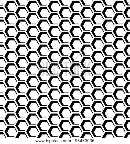 Seamless honeycomb pattern. Hexagons op art texture. Vector art.