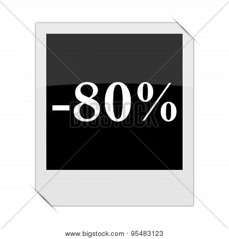 80 Percent Discount Icon
