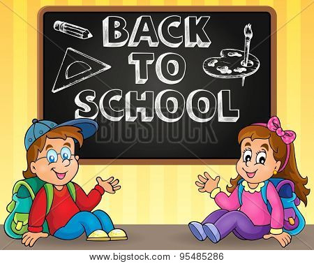 Back to school thematic image 9 - eps10 vector illustration.