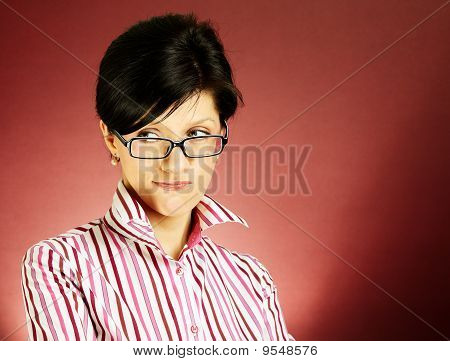 Nerdy Office Woman