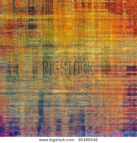 Abstract blank grunge background, old texture with stains and different color patterns: yellow (beige); purple (violet); green; red (orange)