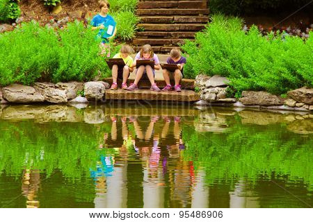 TULSA, OKLAHOMA - JUNE 13, 2015: People Enjoy A Day in a park at the Philbrook Museum of Art in Tulsa, Oklahoma. Museum draws a large crowd every second Saturday of the month, when admission is free.