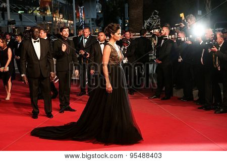 Camila Alves attends the Premiere of 'The Sea Of Trees' during the 68th annual Cannes Film Festival on May 16, 2015 in Cannes, France.