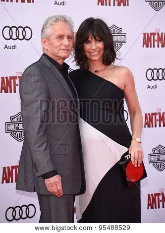 LOS ANGELES - JUN 29:  Michael Douglas & Evangeline Lilly arrives to the