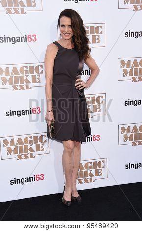 LOS ANGELES - JUN 25:  Andie MacDowell arrives to the