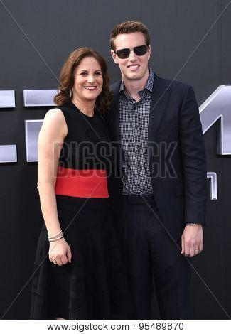 LOS ANGELES - JUN 28:  David Ellison & Dana Goldberg arrives to the