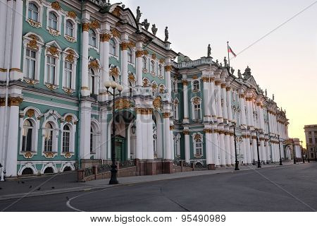 building of the Winter Palace and the Hermitage Museum in St. Petersburg, Russia