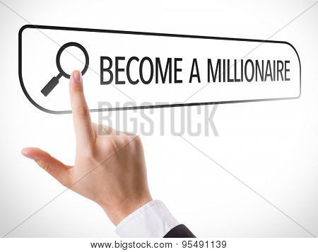 Become a Millionare written in search bar on virtual screen